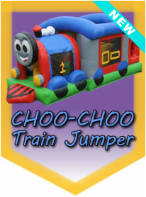 Choo-Choo Train Jumper Inflatable kiddie rental