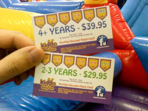 Prepaid Discount Punch Cards