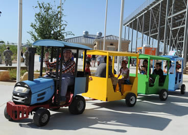 Our Trackless Train at National Night Out in Fort Hood, 2013.