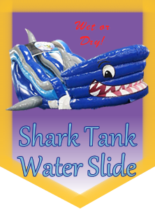 Shark Tank Water Slide, use wet or dry!