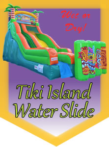 Tiki Island Water Slide Rental in Bell County Texas and North Austin