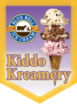 kiddo Kreamery presents Hand Dipped Blue Bell Ice Cream