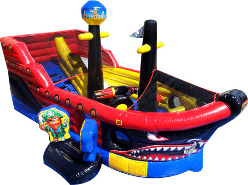 Little Pirate Ship Inflatable Combo Rental